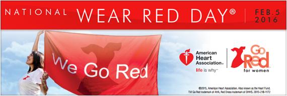 Wear Red Day 2016